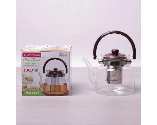 Чайник-заварник Kamille со съемным ситечком 1000 мл КМ-1609 PM