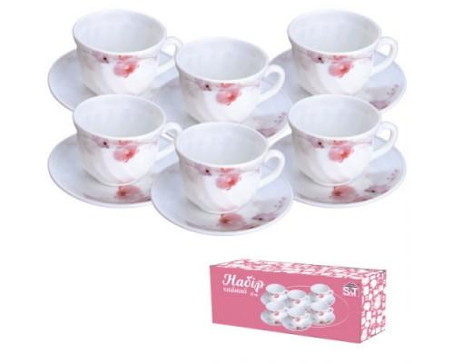 """Набор чайный """"Розовая орхидея""""  S&T  - 12 предметов 30055-61099 - РМ"""