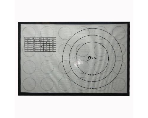 Коврик силиконовый универсальный  43x28см с кругами и разметкой SNS 4328