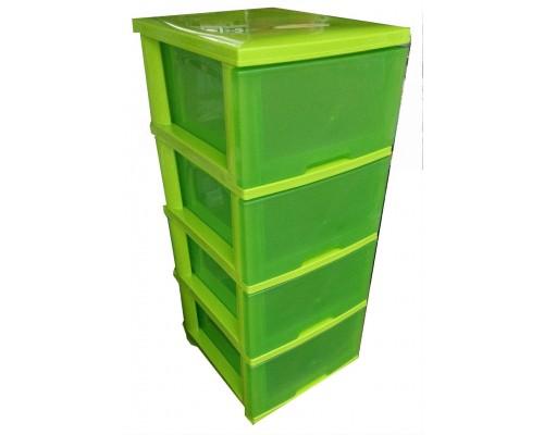 Комод Пластиковый Алеана 124093  Зеленый
