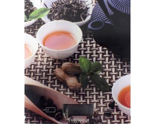 Весы кухонные электронные Grunhelm  KES-1PTE чай