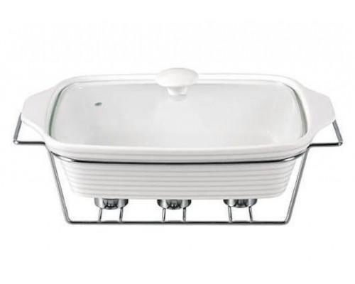 Мармит Kamille Food Warmer керамический 2,4л d 33 см с подогревом KM-6403 прямоугольный PM