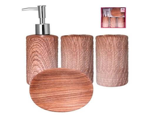 Набор аксессуаров для ванной комнаты 4 пр S&T Ольха 888-06-028 PM