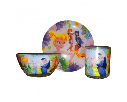 Набор детской посуды Украина ТД из 3 предметов Фея Динь Динь  PM