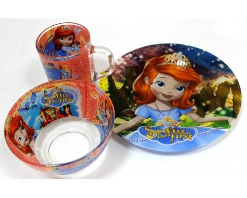 Набор детской посуды Украина ТД из 3 предметов Принцесса София PM