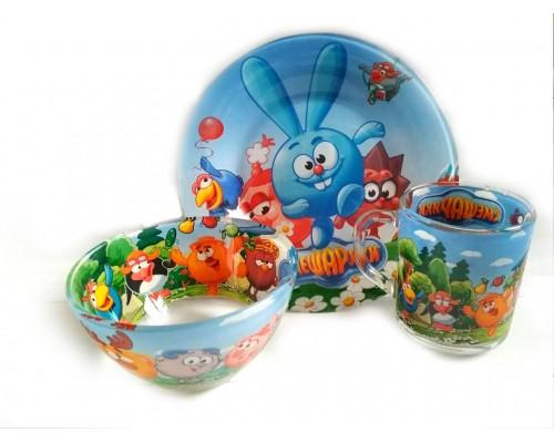 Набор детской посуды Украина ТД из 3 предметов Смешарики PM