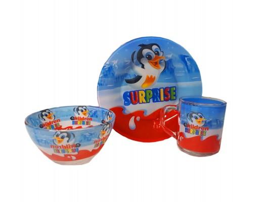 Набор детской посуды Украина ТД из 3 предметов Сюрприз PM