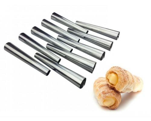 Набор форм 10 см для выпечки трубочек 10 шт из нержавеющей стали A-PLUS