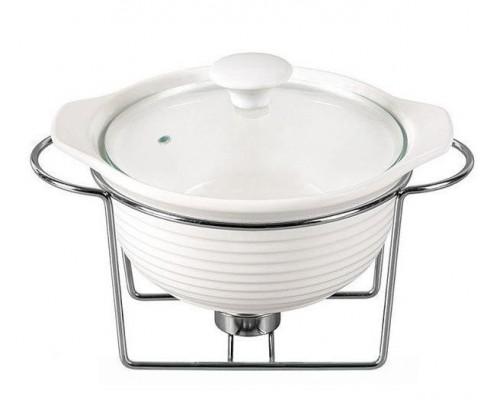 Мармит Kamille Food Warmer керамическая кастрюля 1.2л d 23 см с подогревом KM-6400