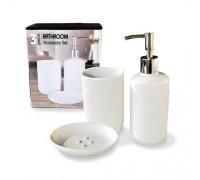 Набор аксессуаров для ванной комнаты S&T 3 предмета Белый 887-06-000