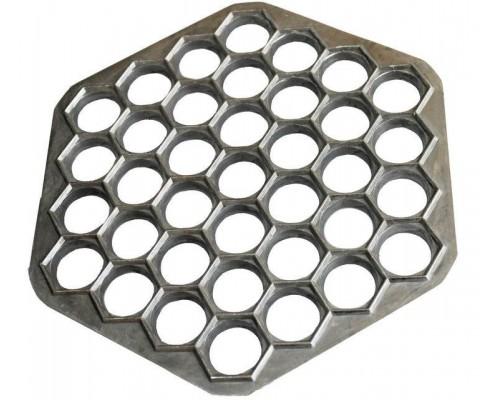 Пельменница форма алюминевая 37 отверстий PM