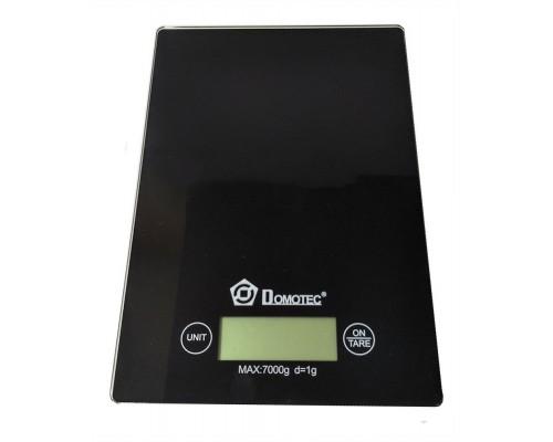 Весы электронные кухонные стеклянные Domotec MS-912 Черные