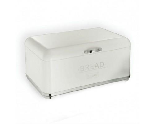 Хлебница Maestro с откидной крышкой Белая из нержавеющей стали MR-1677 PM