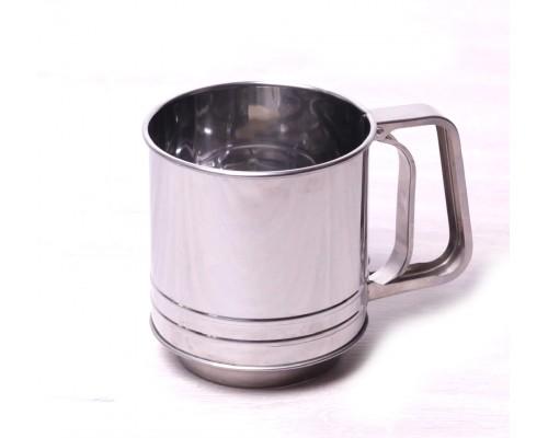 Кружка-сито Kamille 7785 d-10 см. с двойным ситовым дном из нержавеющей стали