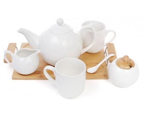Набор чайный 9 предметов Naturel на бамбуковом подносе BonaDi 289-237