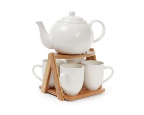 Набор чайный на бамбуковой подставке 6 предметов Naturel Bona Di 375-340