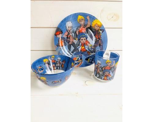 Набор детской посуды Украина ТД из 3 предметов Бейблейд PM