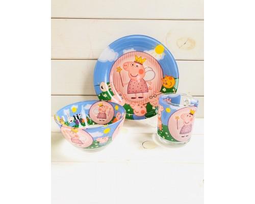 Набор детской посуды Украина ТД из 3 предметов Свинка Пеппа PM