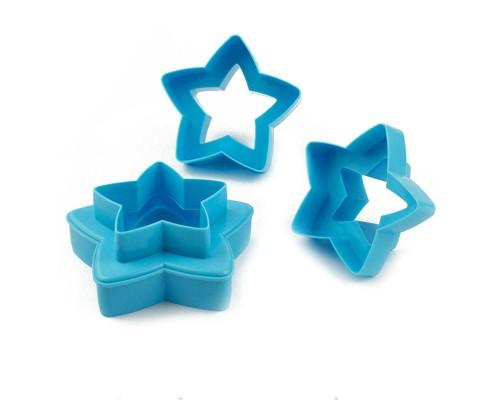 Вырубки для печенья двухсторонние Звезды 3 штуки PM