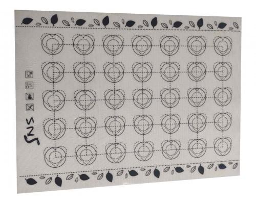 Силиконовый коврик SNS на тканевой основе 30 х 40 см для макарон PM