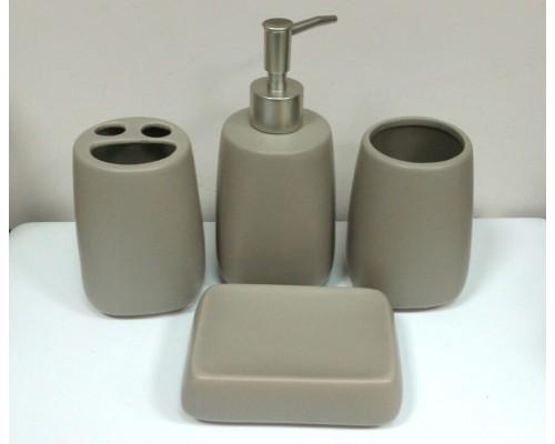 Набор аксессуаров для ванной BONA DI 851-220 кофейный 4 предмета PM