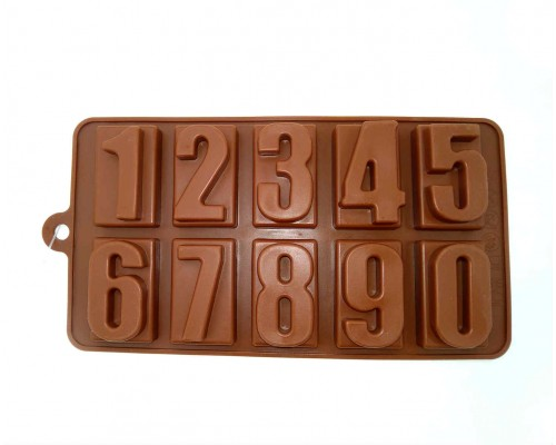 Силиконовая форма цифры Genes 20 x 11 см коричневая PM