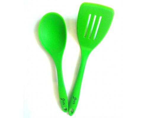 Набор силиконовых кухонных принадлежностей SNS 2 предмета (ложка, лопатка)