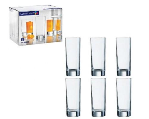Набор стаканов 6 шт Luminarc Islande 330 мл высокие 0040 LUM SP PM