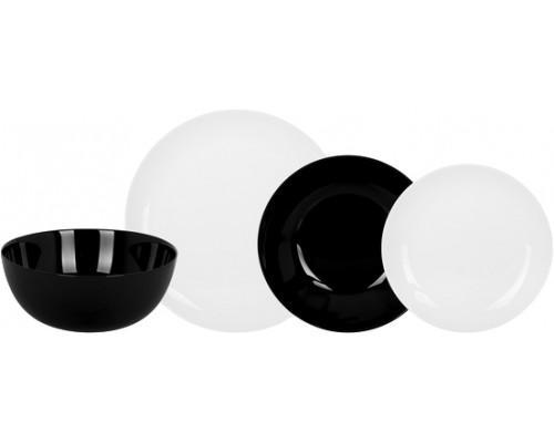 Сервиз столовый Luminarc Diwali BLACK WHITE 19 предметов 4360P LUM