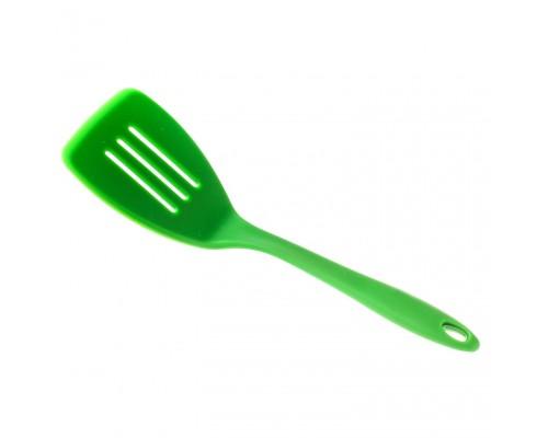 Силиконовая лопатка с прорезями 31 х 9 см салатовая SNS