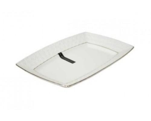 Блюдо фарфоровое белое прямоугольное 23 см Снежная королева Interos 9/222723-A