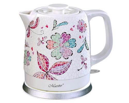 Чайник электрический Maestro White (MR-068) керамический 1,5 литра