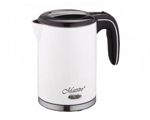 Чайник Maestro электрический объем 1,2 литра белый MR-030