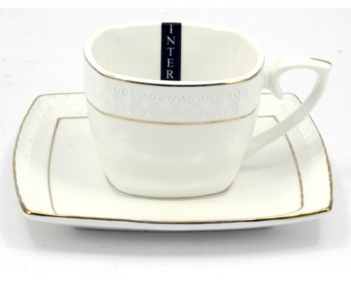 Чашка с блюдцем фарфоровая Interos 240 мл Снежная Королева 507009-А