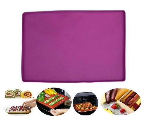 Коврик-противень силиконовый с бортиком для пастилы, выпекания, заморозки 40 х 30 см Genes фиолетовый PM