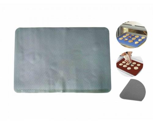 Коврик силиконовый для выпечки рифленый 37 х 27 см серый Stenson PM