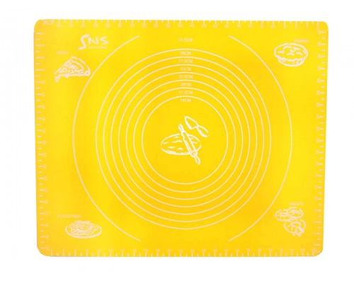 Коврик силиконовый 50 х 40 см с разметкой желтый SnS PM