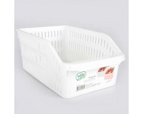 Лоток в холодильник белый 20 x 30 х 14 см Hobby life 03 1067 PM
