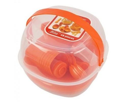 Набор пластиковой посуды для пикника 48 предметов Bita PM