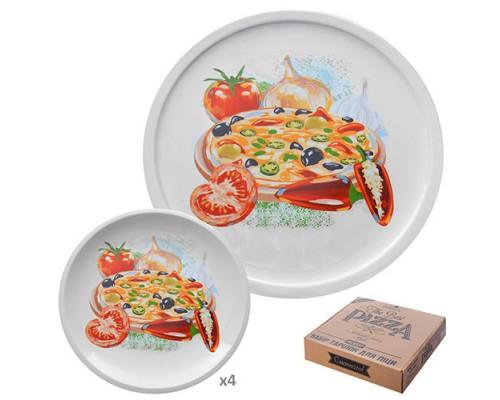Набор тарелок для пиццы керамических Stenson MC0937