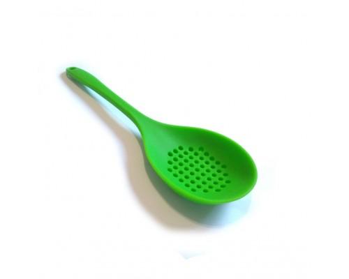 Шумовка силиконовая 34,5 х 10 х 3 см зеленая SNS PM