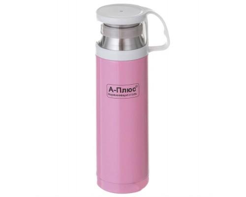 Термос детский 500 мл металлический розовый A-Plus 1779 PM