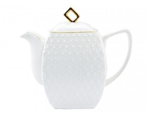 Чайник заварочный фарфоровый 900 мл Снежная Королева Interos 406618-А PM