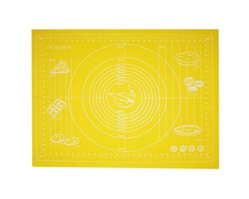Силиконовый коврик Genes 68 на 51,5 см для раскатки теста желтый