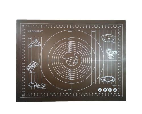 Силиконовый коврик Genes 68 на 51,5 см для раскатки теста коричневый