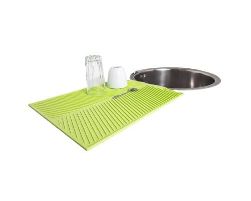 Силиконовый коврик для сушки посуды Ytech 39 на 25 см зеленый PM
