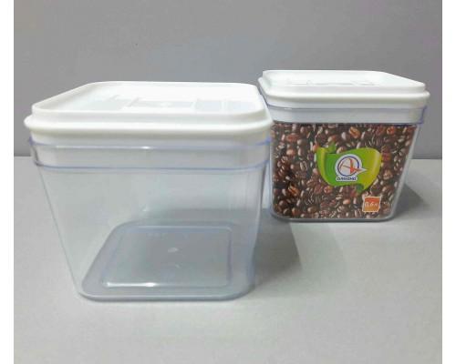 Емкость для сыпучих продуктов 0,6 л Алеана 168024 прозрачный