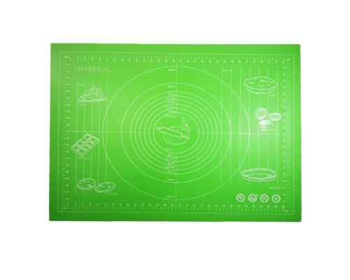 Силиконовый коврик Genes 68 на 51,5 см для раскатки теста зеленый