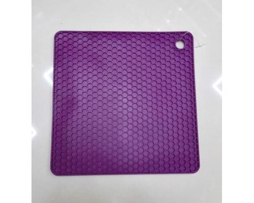 Подставка под горячее силиконовая 17,8 x 17,8 x 0.8 см Genes фиолетовая