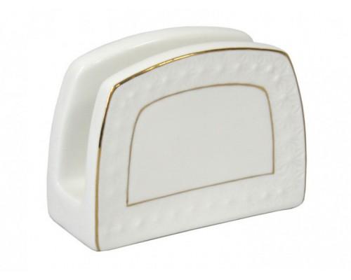 Салфетница фарфоровая белая Снежная королева Interos 880408-A PM